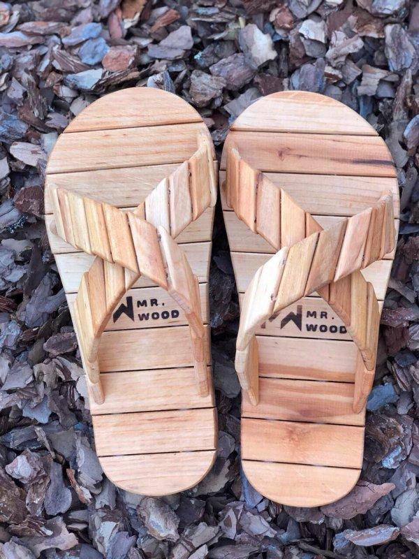 Деревянные тапочки для сауны и бани Mr.Wood 35