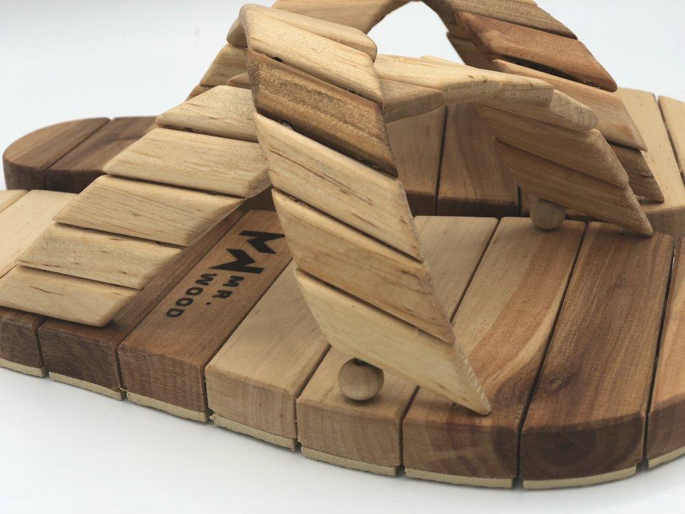 Деревянные тапочки для сауны и бани Mr.Wood 41