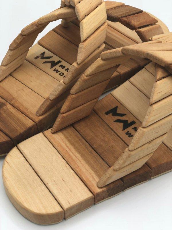 Купить Деревянные тапочки для сауны и бани Mr.Wood 45