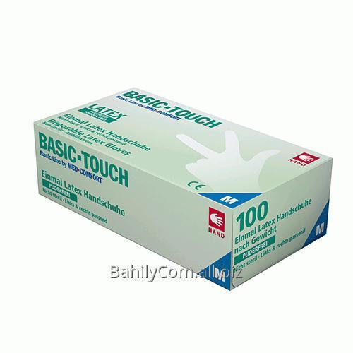 Купить Перчатки латексные без пудры BASIC-TOUCH 01033