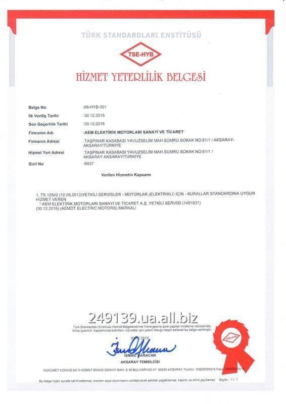 Купить Трехфазный асинхронный двигатель AEM 0,37 кВт 3000 об/мин