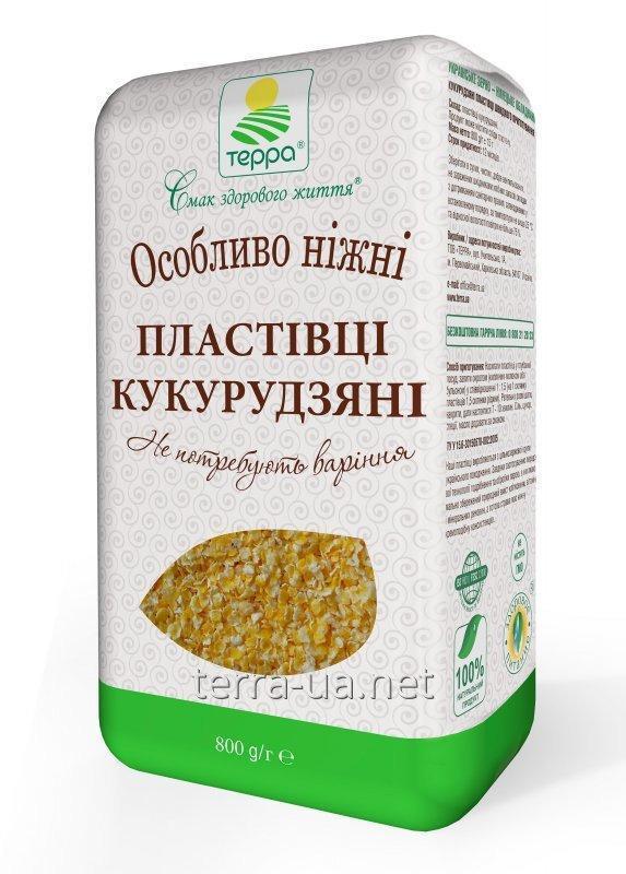 Купить Кукурузные хлопья быстрого приготовления в крафт-пакете