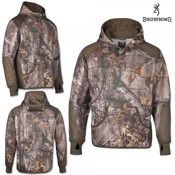 Толстовка для охоты Browning Hell's Canyon Performance Fleece Hoodie Realtree Xtra