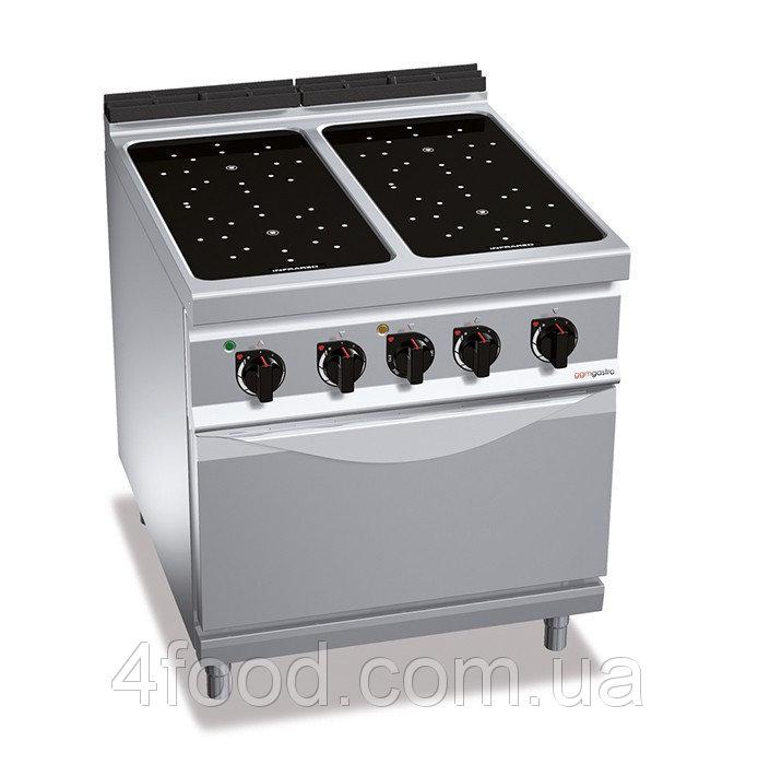 Инфракрасная плита GGM EIB899M+EB4U 4 конфорки 16 кВт + печь конвекционная электрическая-3,5 кВт
