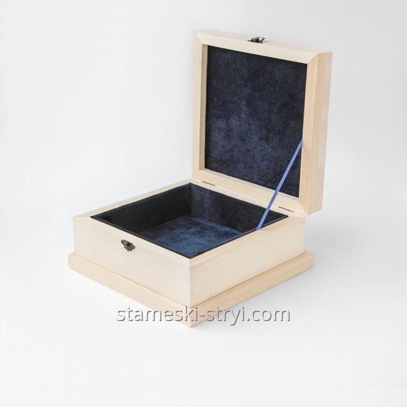 Чанта квадратен заготовки за дърворезба с фитинги, липа 240 * 240 * 100 мм