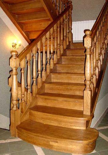 Купить Дубовые лестницы производство