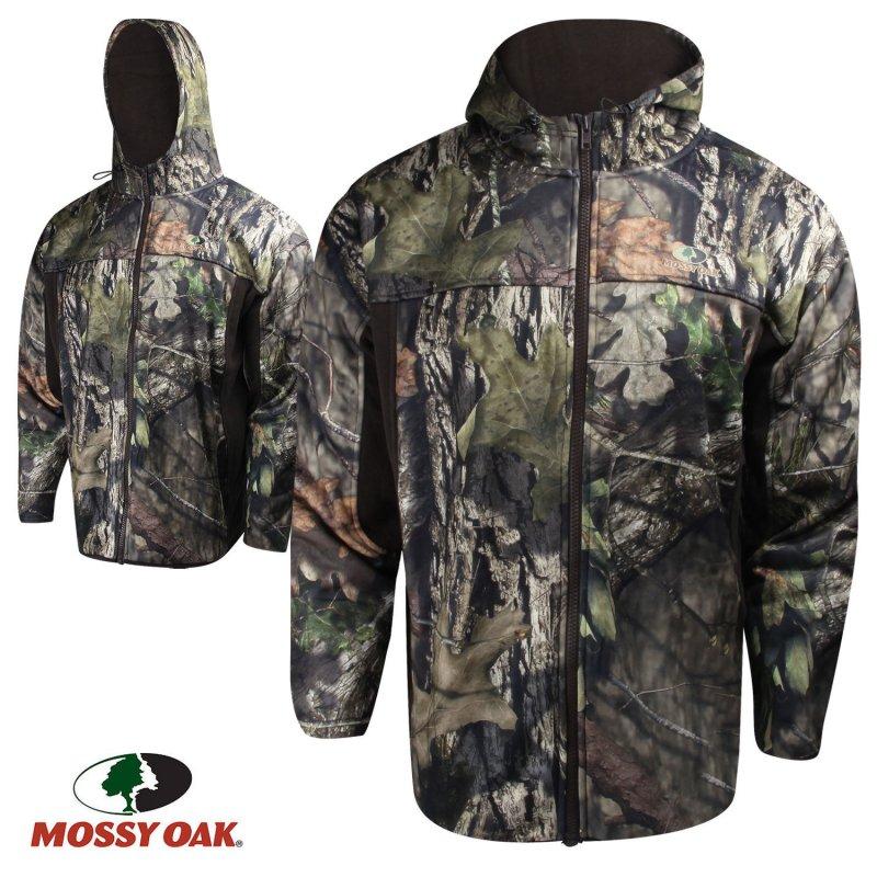 Куртка для охоты демисезонная флисовая Mossy Oak Performance Fleece Full-Zip Hooded Jacket
