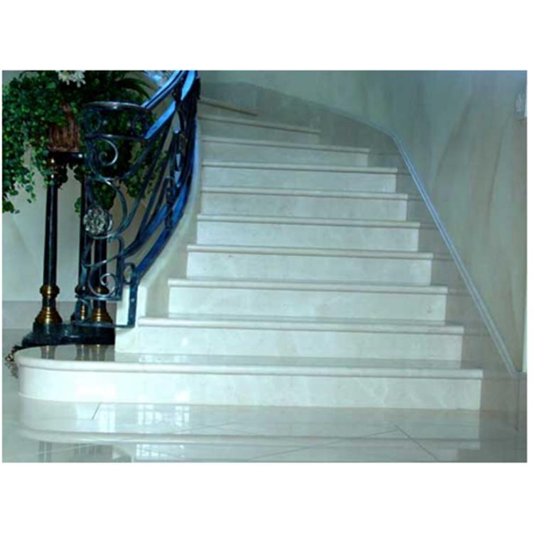 Купить Лестница-76 Мраморная радиусная лестница из мрамора «Агора беж»