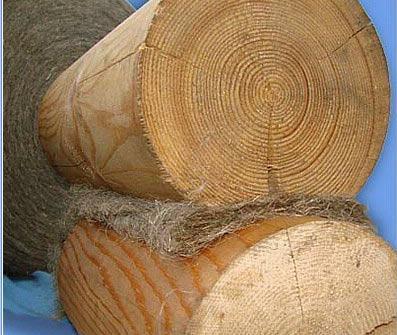 Пакля для конопатки межвенцовых соединений деревянных домов. Утеплители льняные. Льняная пакля