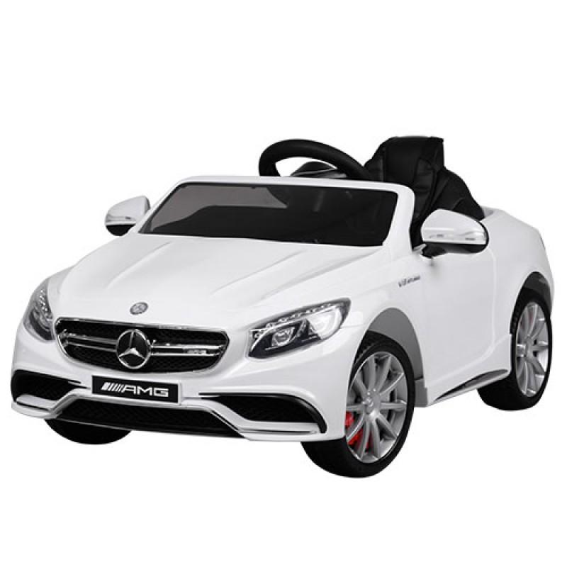 Детский электромобиль Mercedes S63 белый