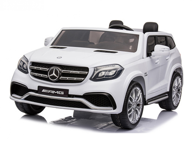 Детский электромобиль Mercedes GLS63 лак белый