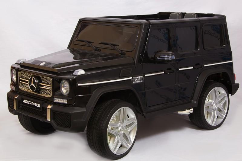 Детский электромобиль Mercedes G65 лак  черный