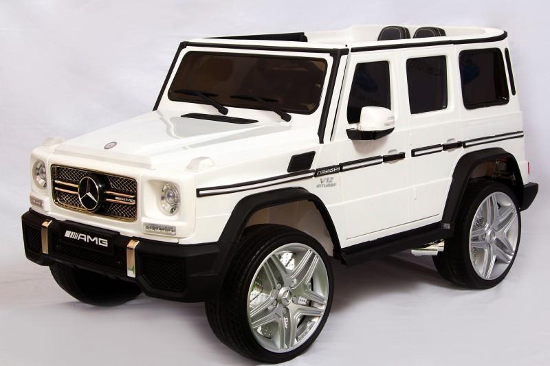 Детский электромобиль Mercedes G65 белый