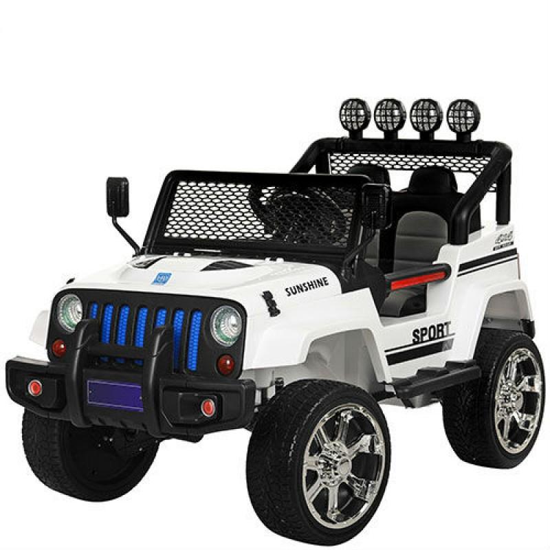 Детский электромобиль Jeep 2388 белый