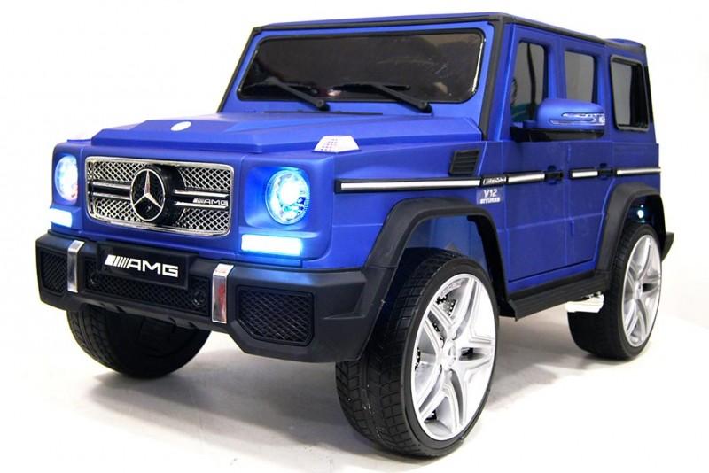 Детский электромобиль Mercedes G65 лак синий
