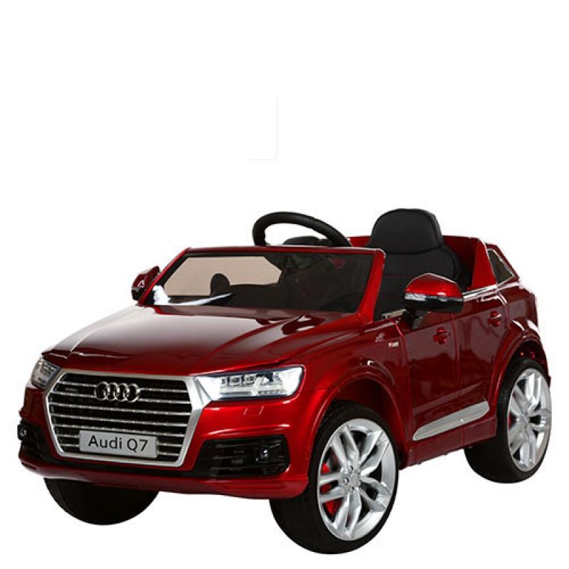 Детский электромобиль Audi Q7 3231 лак красный