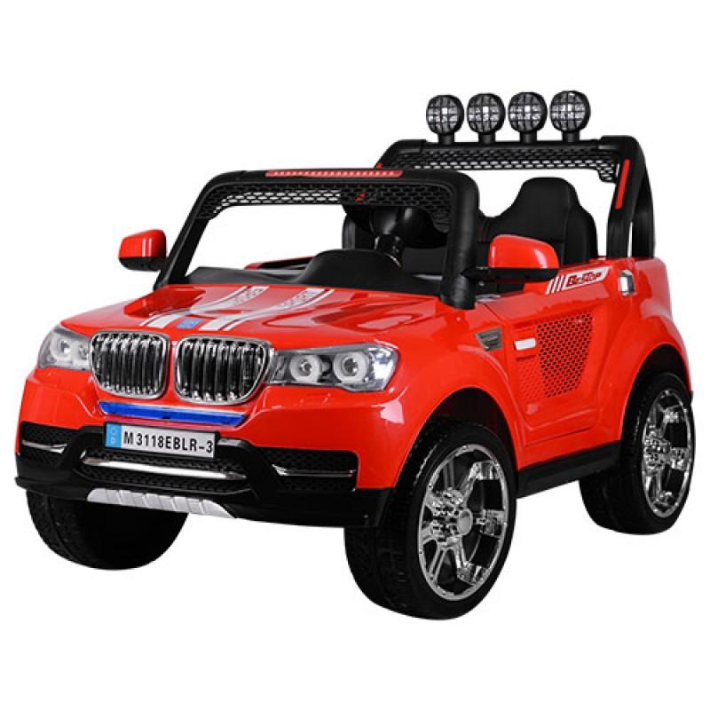 Детский электромобиль BMW M 3118 красный