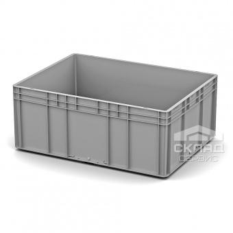 Евроконтейнер пластиковый 800x600x320 мм Усиленное дно серый