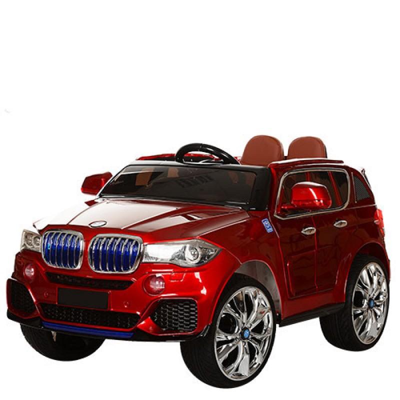 Детский электромобиль BMW X5 лак красный