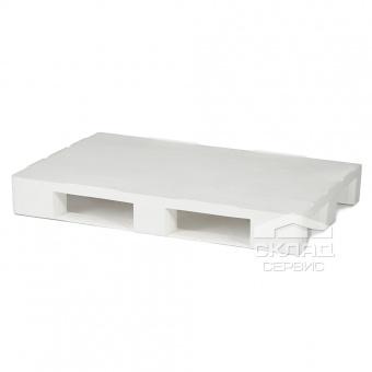 Гигиенический пластиковый поддон с бортиком PE 1200х800х150 мм белый