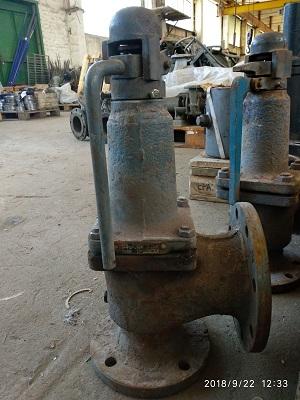 Клапан предохранительный угловой СППКр 17с28нж Ду80 Ру16