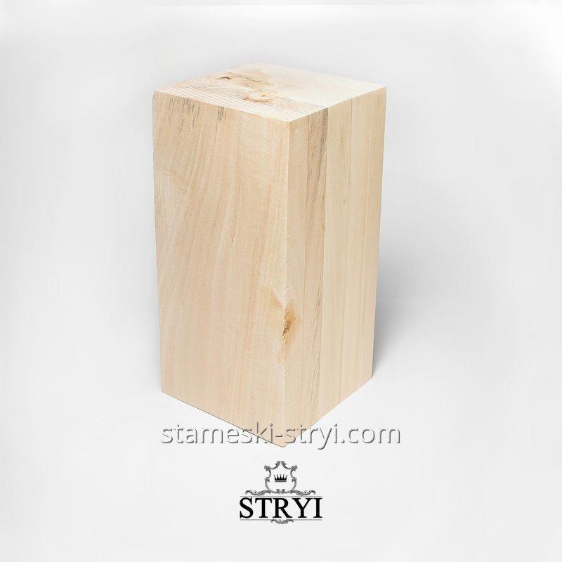 Заготовка деревянная под резьбу, липа, размер - 300*150*150 мм, арт.ЛБ01
