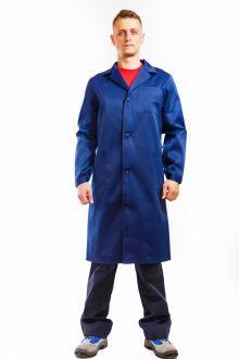 Купить Халат мужской 3003 темно-синий р.52-54/3-4 (01013)