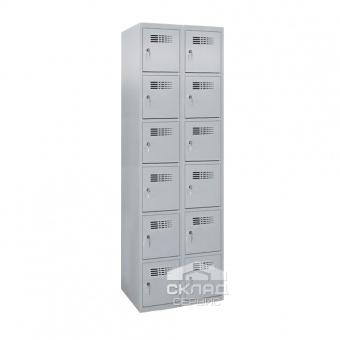 Секционный металлический шкаф Sus-426 на 12 ячеек 1800(h)x800x500 мм