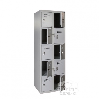 Секционный металлический шкаф Sus-425 на 10 ячеек 1800х800х500 мм