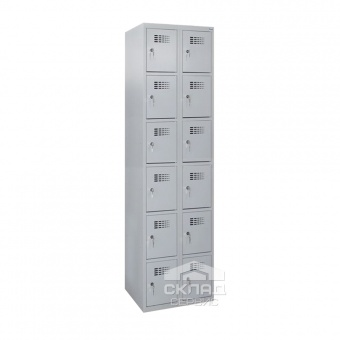 Секционный металлический шкаф Sus-326 на 12 ячеек 1800(h)x600x500 мм