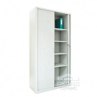 Шкаф архивный с роллетными дверьми ШКГ-10Р 1970x1000x455 мм