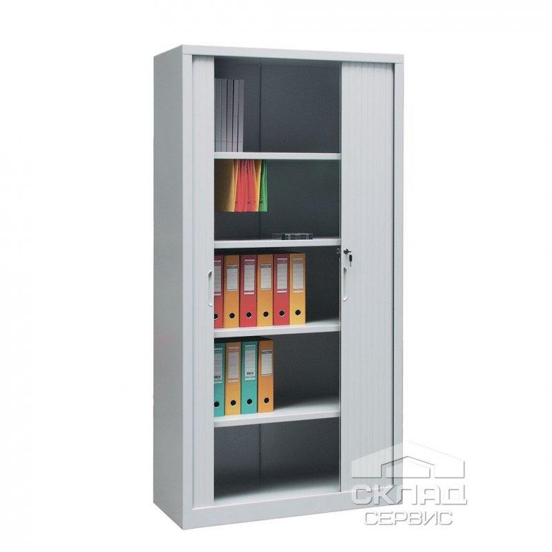 Шкаф архивный с роллетными дверями для документов Sbm-208 (2000x1000x435 мм)
