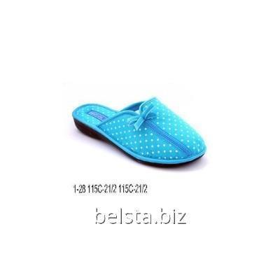 Тапочки женские 1-28/115 С-21 голубой