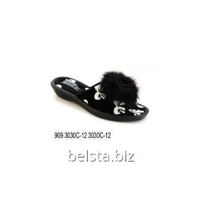 Тапочки женские 909 С-12 черн.