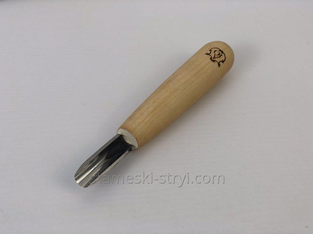 Полукруглый скошений коротыш для геометрической резьбы по дереву,10 мм, арт.01111