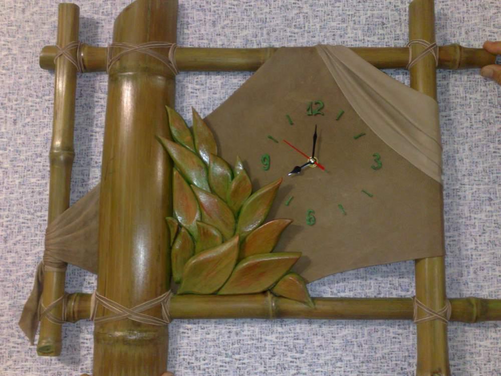 при прокладке поделки из бамбука часы фото нашем сайте можете