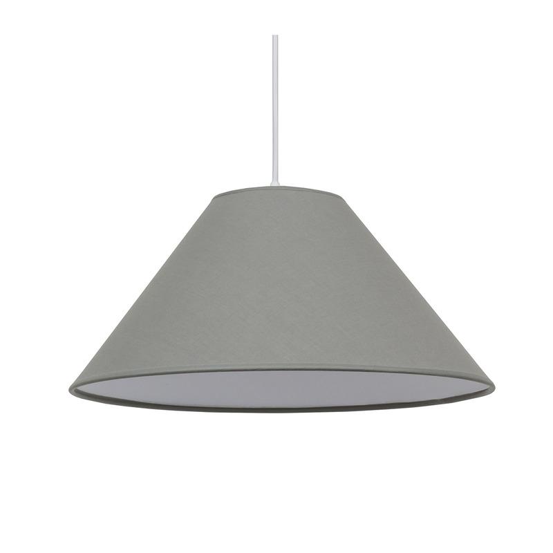 Купить Абажур Fenster Конус D380 Светло-серый