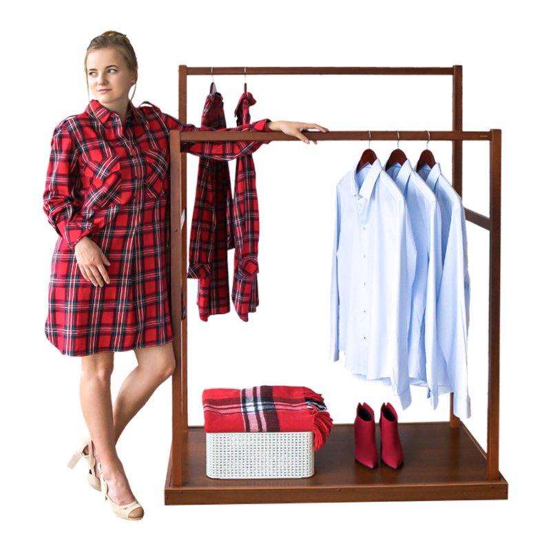 Стойка для одежды Fenster Дуэт Коричневый