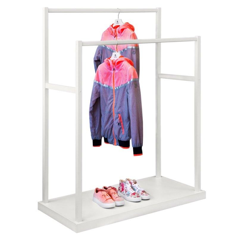 Напольная вешалка для одежды Fenster Дуэт Белый