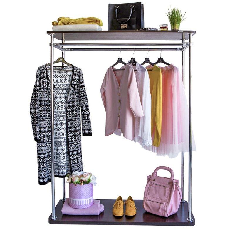 Стойка для одежды Fenster Бюс 4 Хром