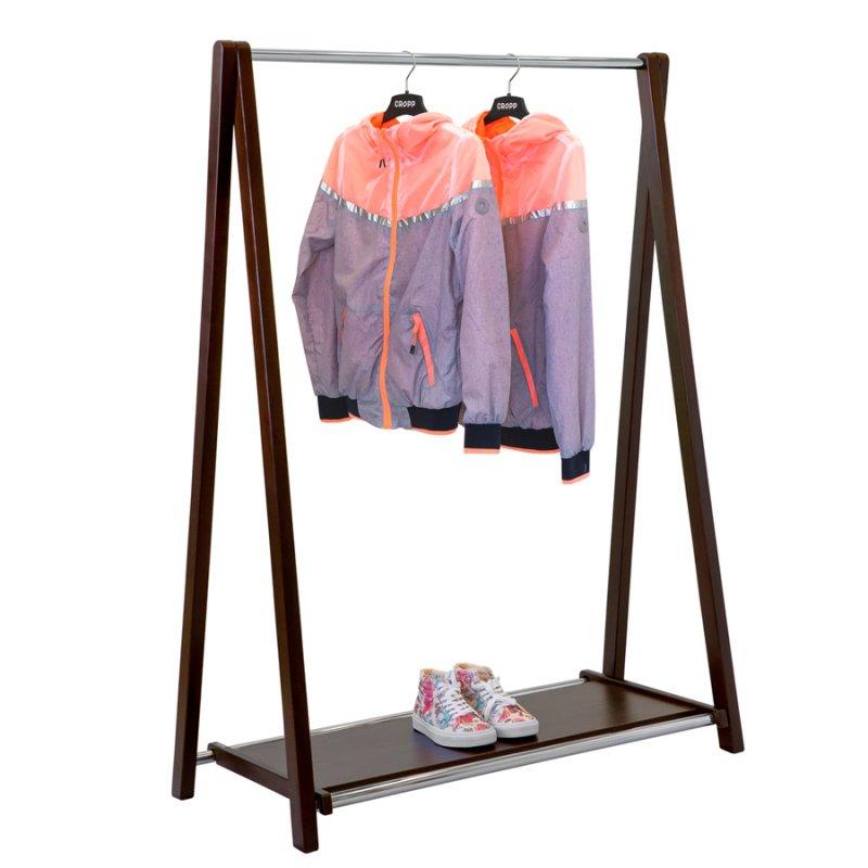 Напольная вешалка для одежды Fenster Модус 2П Венге 146x100x48,5
