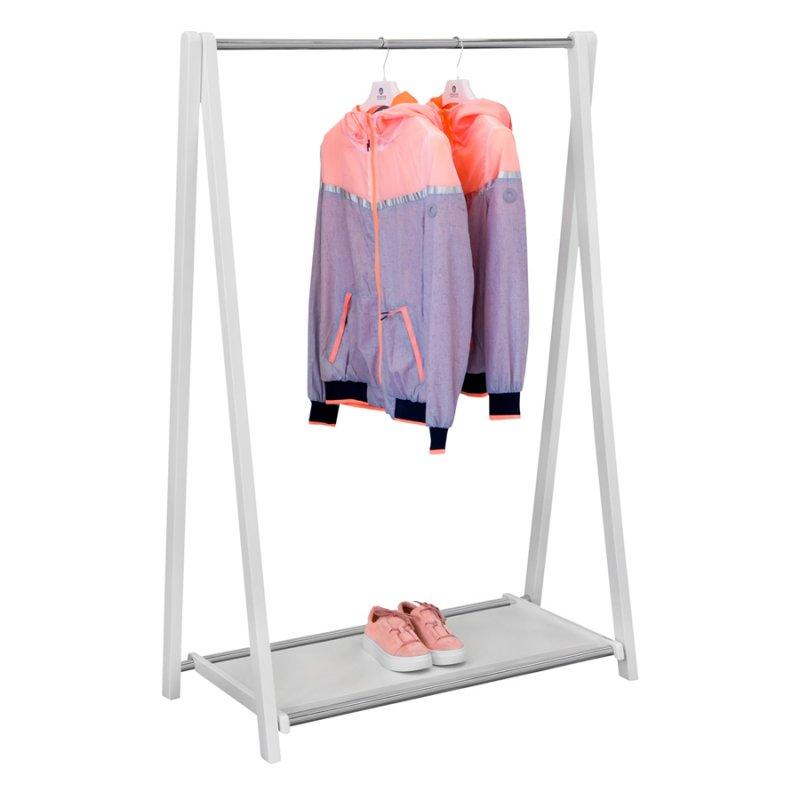 Напольная вешалка для одежды Fenster Модус 2П Белый 146x100x48,5