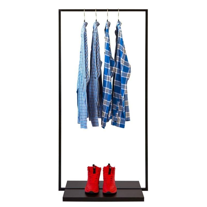 Стойка для одежды Fenster Квадро 2B Чёрный