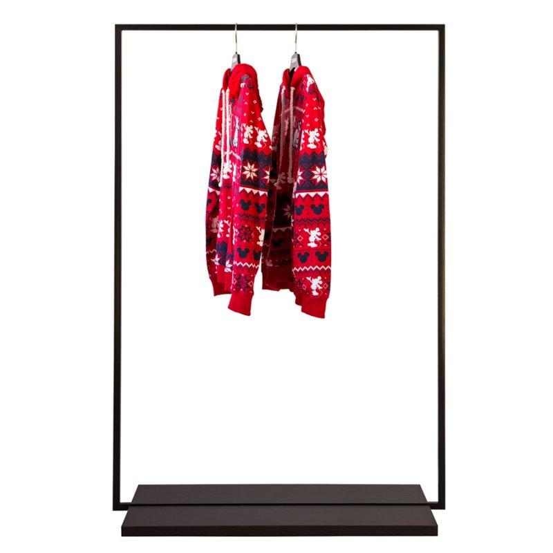 Стойка для одежды Fenster Квадро 2D Чёрный