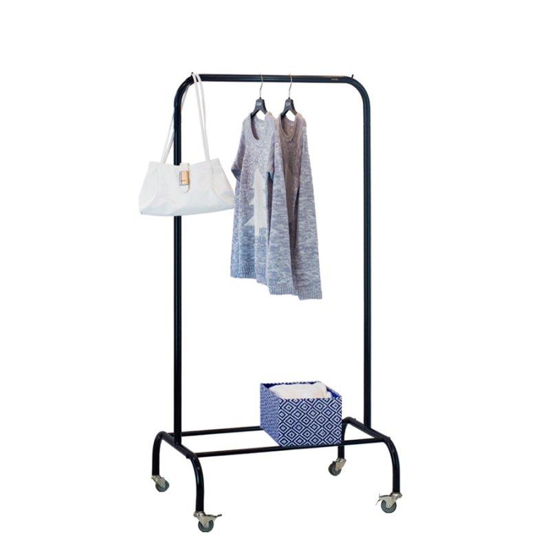 Стойка для одежды Fenster Лофт-пром 1А Черный 140x70x48,5