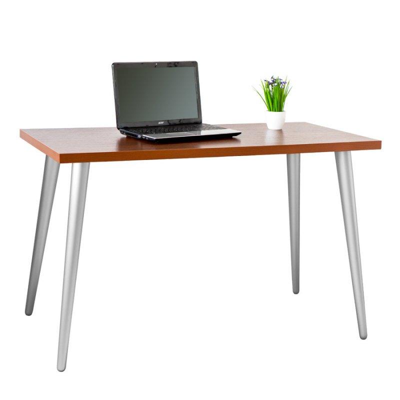 Стол компьютерный Fenster Нортон коричневый-серебро 75x120x60