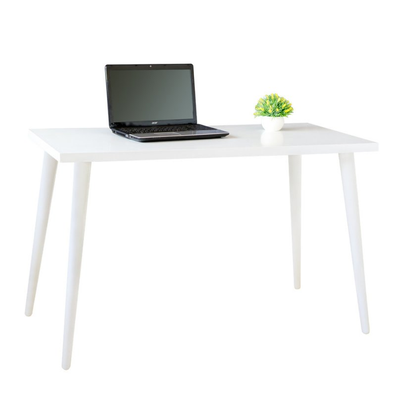 Стол компьютерный Fenster Нортон белый 75x120x60