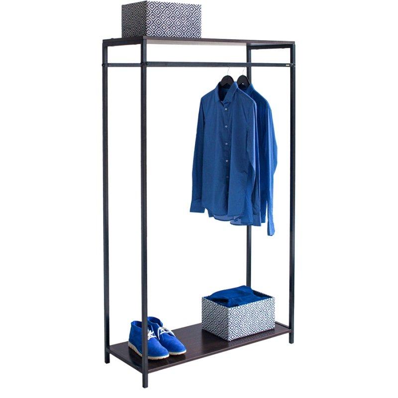 Стойка для одежды Fenster Квадро 8В Черный