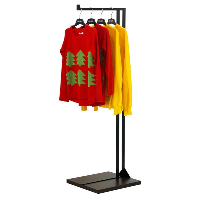 Стойка для одежды Fenster Квадро 9 Черный