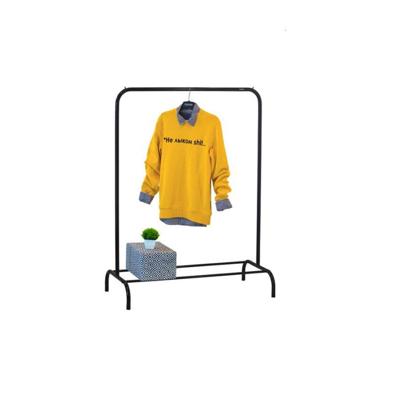 Стойка для одежды Fenster Лофт 1Б Черный 135х100х48,5